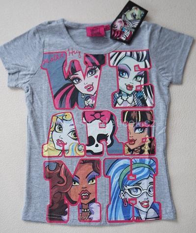 Dívčí tričko Monster High, vel.122