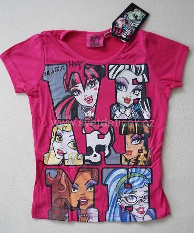 Dívčí tričko Monster High, vel.128