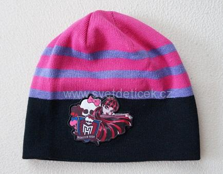 Dívčí čepice Monster High, vel.5-7 let