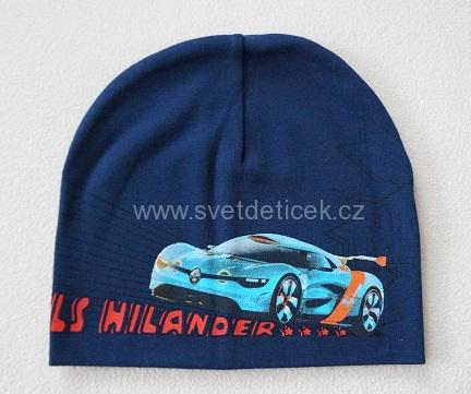 71c52a4aed1 Chlapecká čepice - auta (tmavě modrá)
