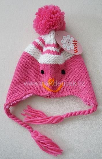 Dívčí zimní čepice WOLF ea19a03da0
