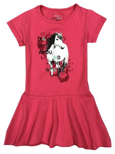 Dívčí šaty KUGO s koníkem, vel.110
