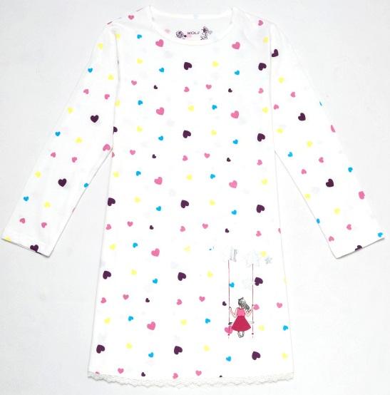 Dívčí noční košilka WOLF, vel.110