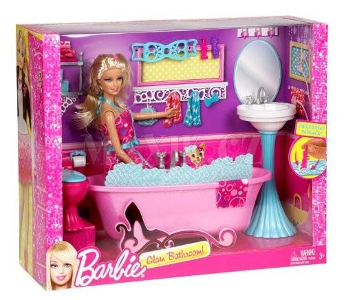 Mattel Barbie panenka a nábytek Koupelna